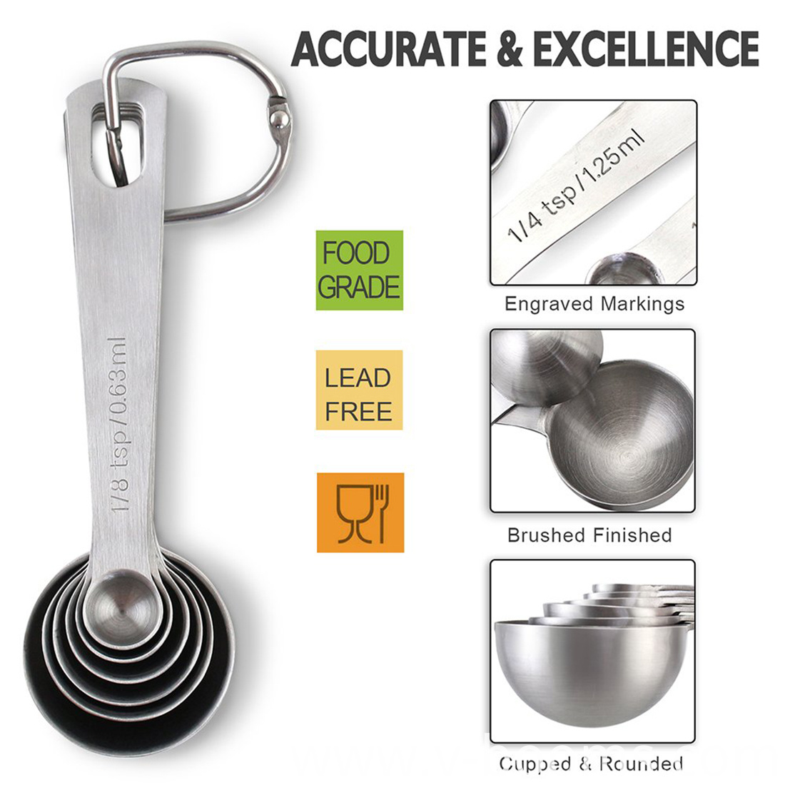 Dry Liquid Ingredient Measuring Spoon Set